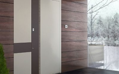 Montaj usa de exterior ZEN din aluminiu marca Alumil