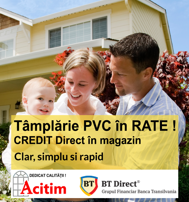 Tamplarie PVC in rate
